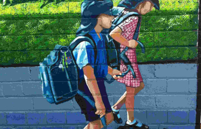 Drummoyne school - local and historic mural