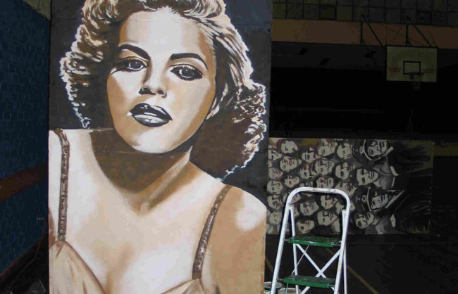 Painted Mural of Judy Garland